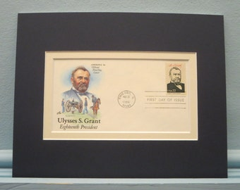 Civil War General Ulysses S. Grant Elected President in 1868 & First Day Cover of his own stamp