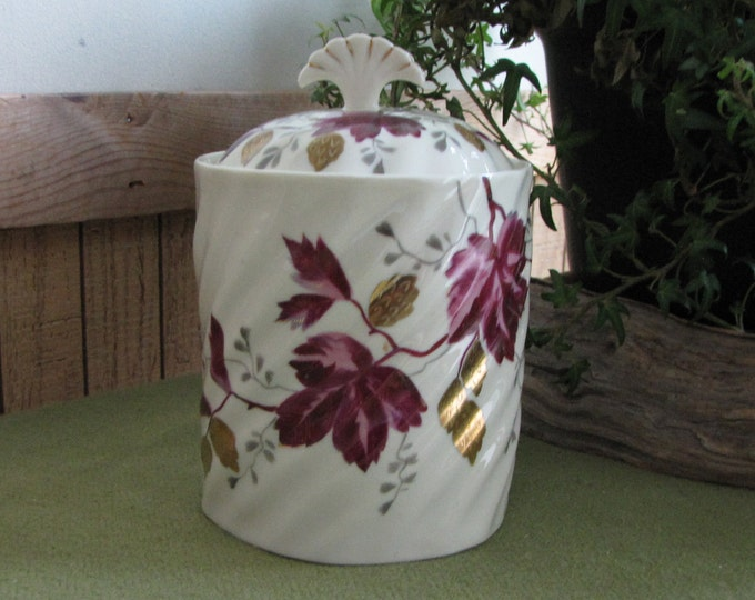 Antique Weimar Porcelain Biscuit Jar Germany 1860s Ceramic Kitchen Storage Container