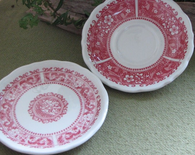 Strawberry Hill Small Plate Syracuse China Restaurant Ware Discontinued Two (2) Small Plates