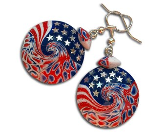 USA, Independence day, American, 4th of july, USA flag, US flag, Star earrings, Earrings with stars, Patriotic jewelry, American flag