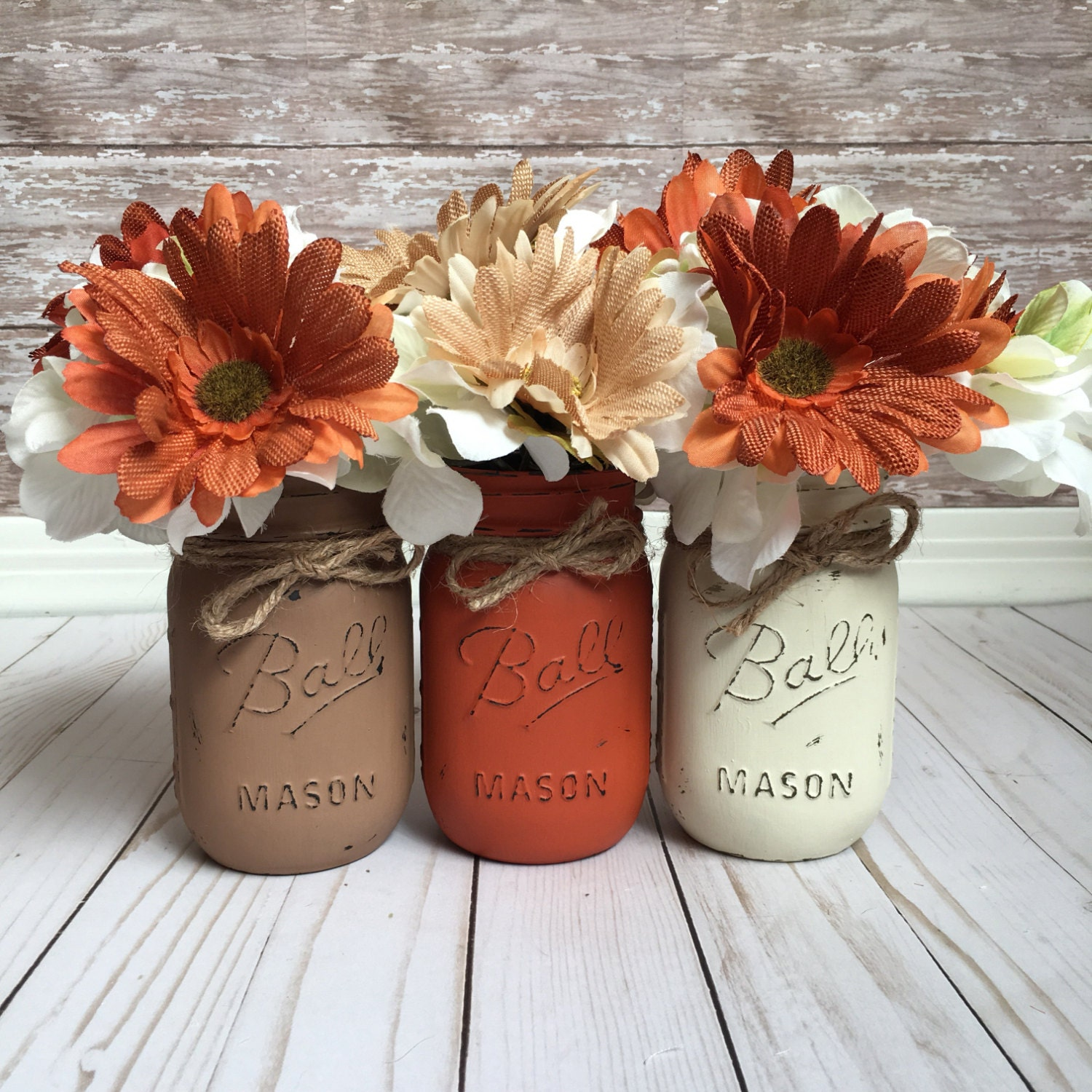 fall mason jars fall home decor fall table decor rustic