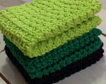 Handmade knit dishcloths