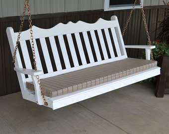 Yellow Pine Royal English 5ft. Outdoor Porch Swing