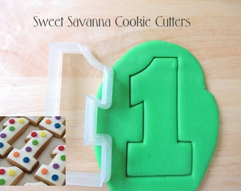 Number 1 with Foot Cookie Cutter - 2, 2.5, 3, 3.5,4 inches -
