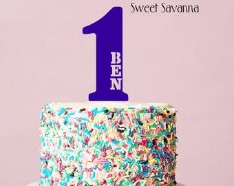 Custom Birthday Cake Topper - Name Cake Topper , First Birthday , Number Cake Topper MADE IN AUSTRALIA