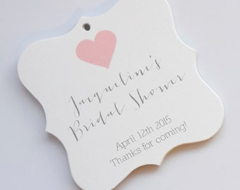 Bridal Shower Tags, Bridal Shower Favor Tags, Wedding Favor Tags, Bridal Shower Hang Tags  (FS-31)