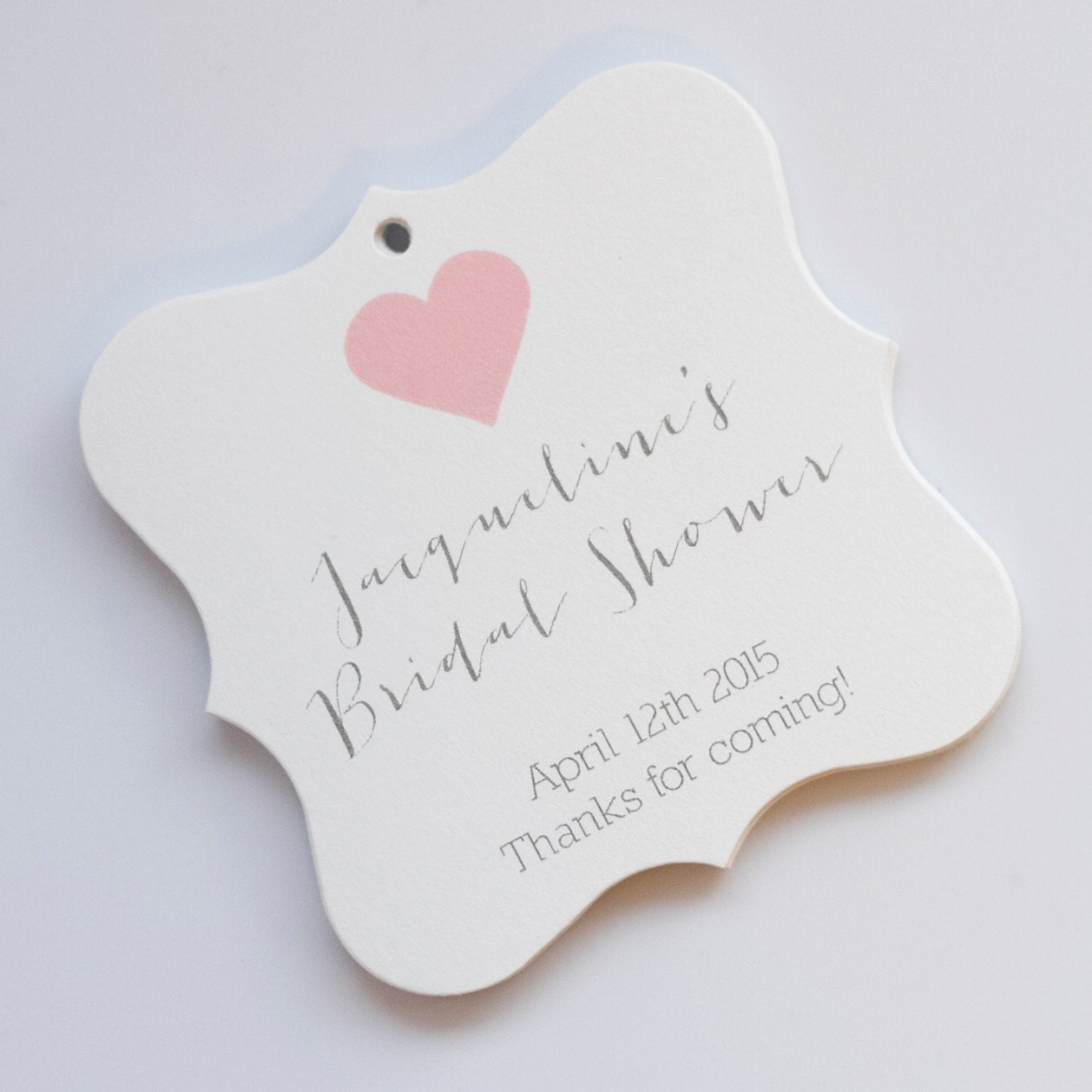 Bridal shower tags bridal shower favor tags by orangeumbrellaco for Shower favor tag