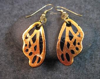 BUTTERFLY WING... Dichroic Glass Earrings
