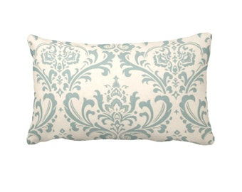 Blue Pillow Cover Blue Throw Pillow Cover Decorative Pillow for Couch Cushions Blue Damask Pillow Cover Blue Pillowcase Accent Pillows