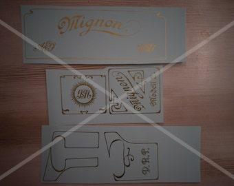 Mignon 2 typewriter decal set