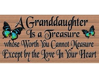 Granddaughter Sign - GS 2572 - Granddaughter plaque