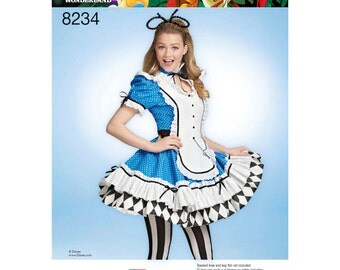 Simplicity Pattern  8234 Misses' Alice in Wonderland Costume