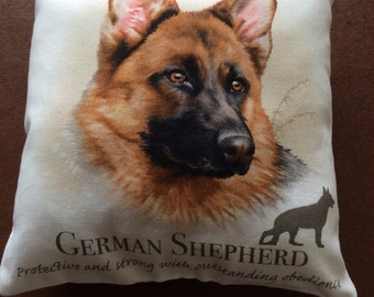 German Shepherd mini cushion