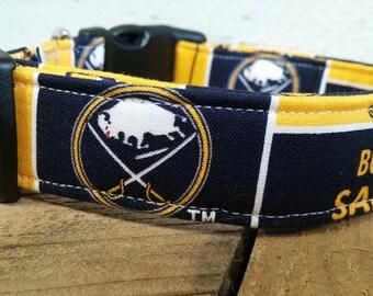 Buffalo Sabre dog collar, Buffalo Sabre Martingale dog collar, Buffalo Sabre dog collar and leash, dog gifts Buffalo Sabres, Buffalo Bill