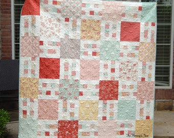 Picket Fence, Quilt Pattern, PDF, Easy, Layer Cake, Yardage Friendly, Wall, Baby, Lap, Twin, Queen, King, BusyHandsPatterns, BHQ0715002