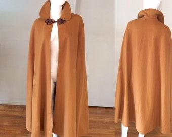Vintage 1970's Saint Laurent Rive Gauche Wool Cloak/Cape
