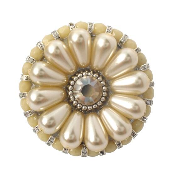 Bouton de meuble en cristal de swarovski perle par Bouton cristal meuble cuisine