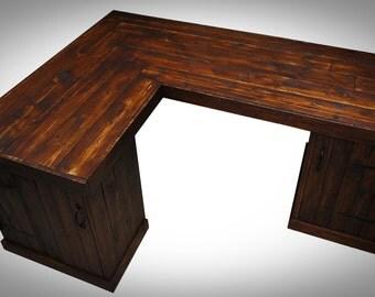 Pallet Corner Desk with Doors