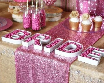 Pink Table Runner, Pink Sequin, Princess Theme, Sequin Runners, Pink Table Cover, Pink Table Overlay, Pink Table Linens, Pink Table