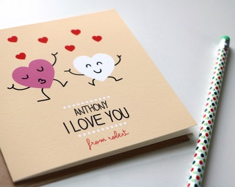 Personalized love card funny card anniversary card