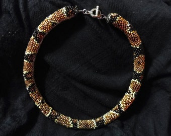 Seed Bead Snake Necklace