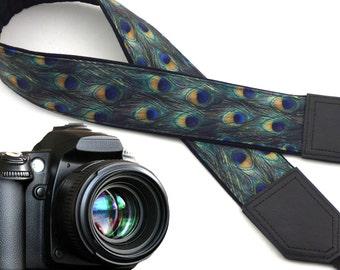 Peacock Camera strap.  DSLR /SLR Camera Strap. Camera accessories for photographers. Gift idea!