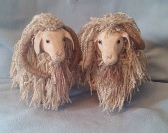 Pair of Wool Mountain Goat/Sheep