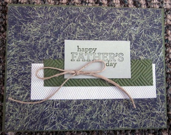 Handmade Father's Day Card for Dad featuring realistic looking grass paper - for the down-to-earth guy