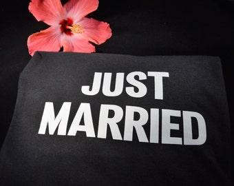JUST MARRIED Black Tee