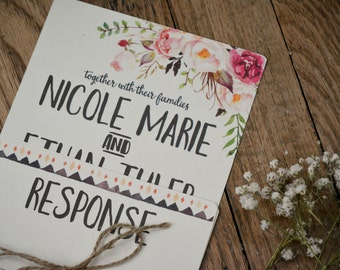 FLORAL|Wedding Invitation Set #53