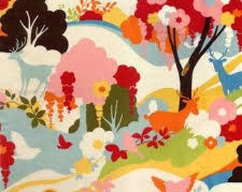 Oh Deer, Enchanted Forest in Creamsicle by Momo OOP VVHTF, Moda_FQ