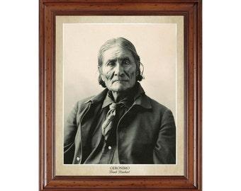 Geronimo portrait by Frank Rinehart; 16x20 print on premium heavy photo paper