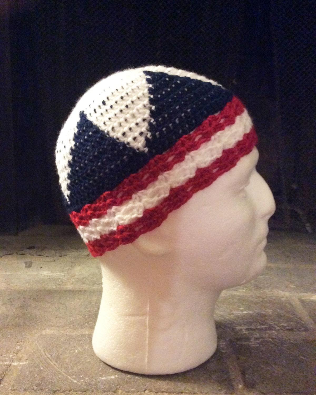 Puerto rican flag beanie kufi crochet beanie crochet kufi zoom bankloansurffo Choice Image