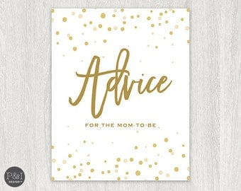 Advice for Mom to Be | Signage |  Instant Download 8x10