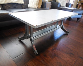Reclaimed Aluminum Coffee Table