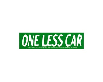 One Less Car Etsy