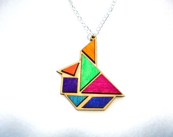 Chain, tangram, sailboat (388)