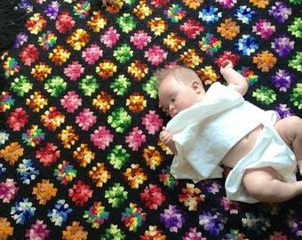 Vintage Baby Blanket / Vintage Afghan Blanket