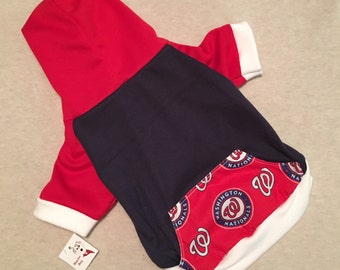 Washington Nationals Dog Hoodie / Personalization Available!