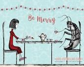 MERRY Tea with Monsieur Roach //  Holiday Cards