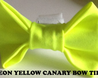 Neon Yellow Reflective Bow Tie for Dogs & Cats