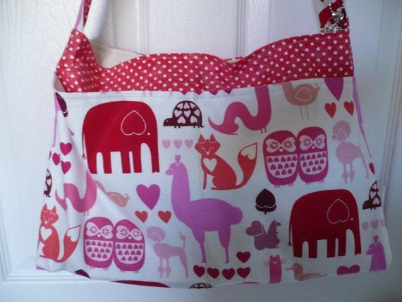 Pink Zoo Animal Purse Diaper Bag