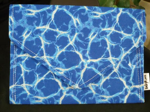 Metallic Blue Wallet/ Cell phone purse