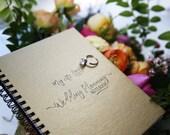 """My Cute Little Wedding Planning Notebook - Gold Metallic Paperboard Journal - 7"""" x 5"""" - 50 sheet"""