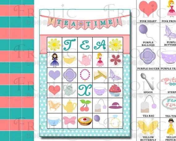 tea party bingo printouts