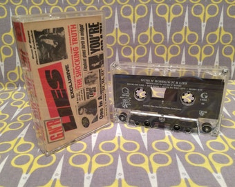 Guns N Roses - GNR Lies Vintage Cassette Tape rock 90s Axl Rose Slash Duff