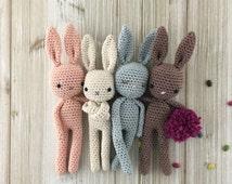 Baby Bunny, MADE TO ORDER, crochet bunny, crochet toy, baby bunny, easter bunny, brown rabbit, child gift, newborn birth gift