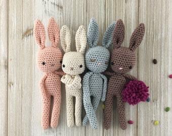 Crochet Baby Lapin Cotton, Amigurumi Lapin, Crochet cadeau anniversaire,cadeau naissance, lapin calin, cadeau naissance lapin,crochet bunny