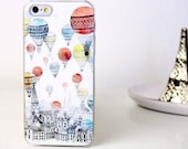 iPhone 6 6S hot air balloon city print phone case LIMITED EDITION!