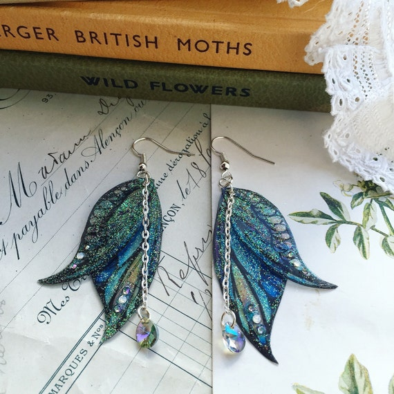 New Magical Faerie Tears Faerie Wing Earrings
